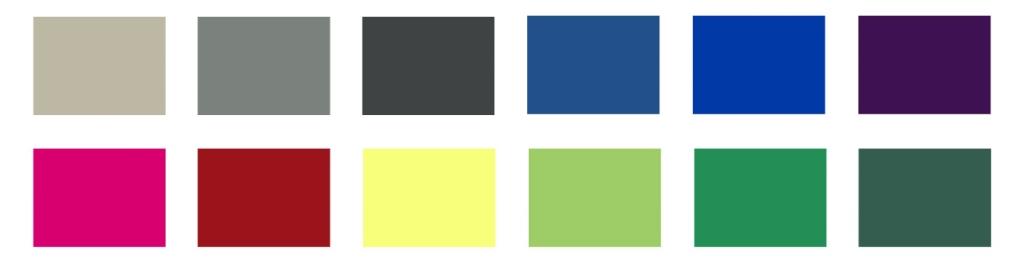 colores tipología clara
