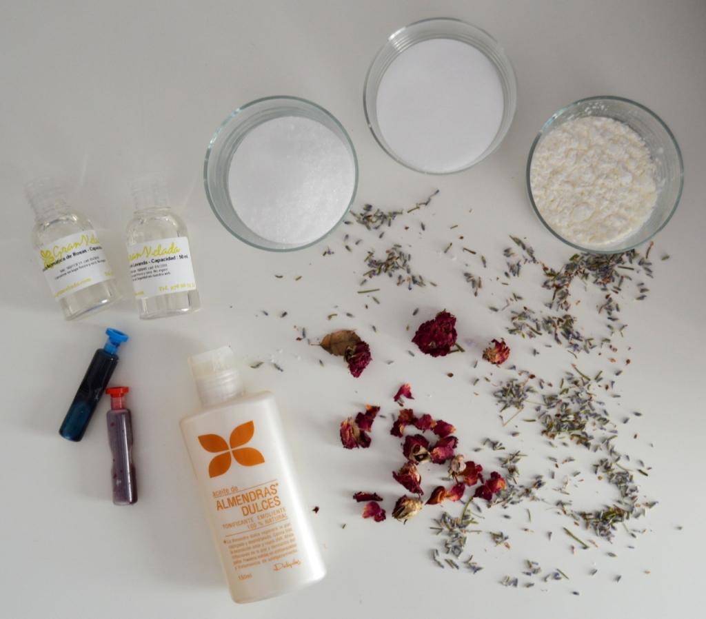 ingredientes bombas de baño