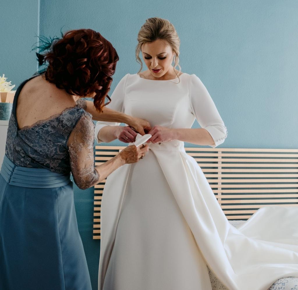 sobrefalda vestido de novia