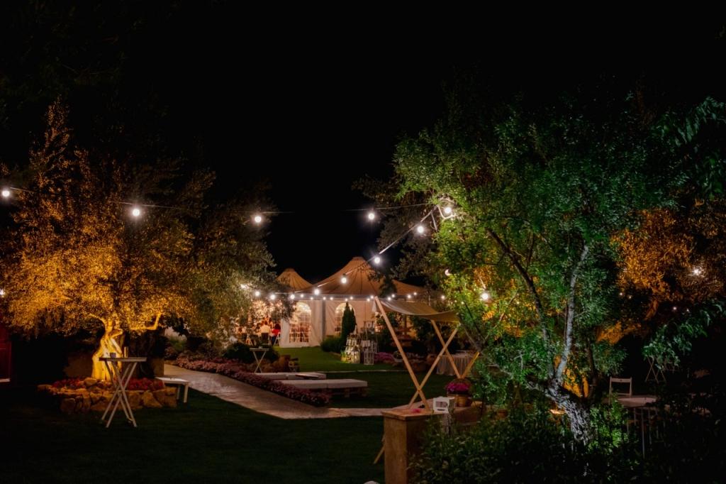 boda romantica iluminacion