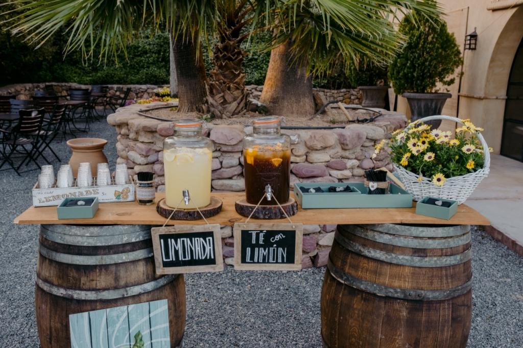 mesa limonada y te boda