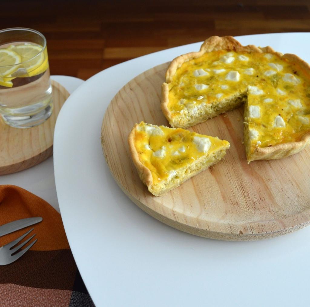 receta quiche thermomis puerro y queso de cabra