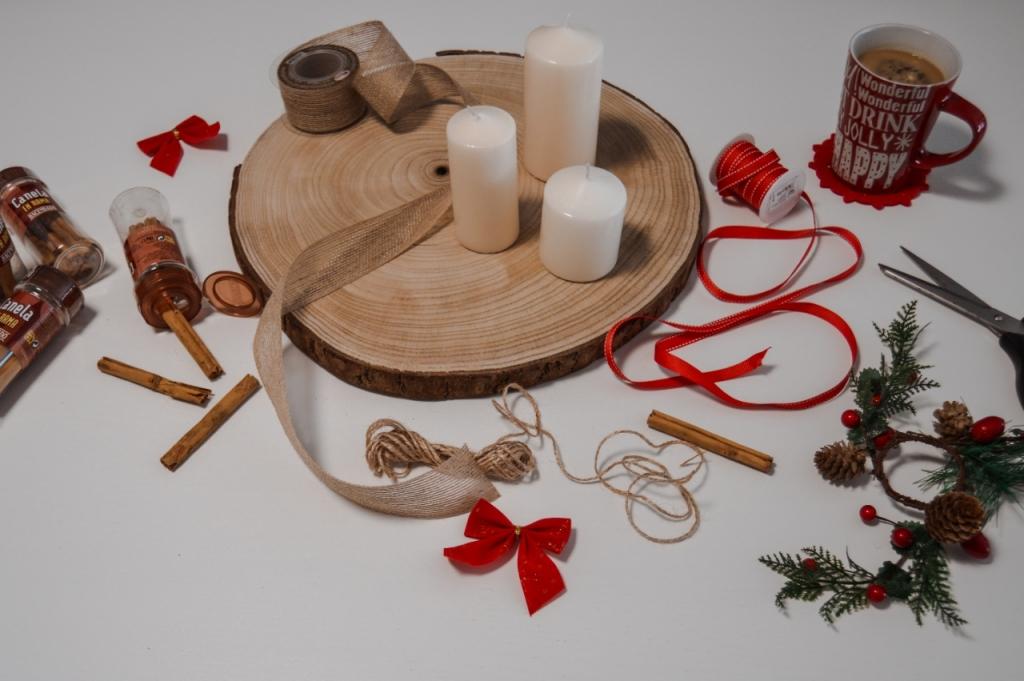 centro de mesa DIY velas