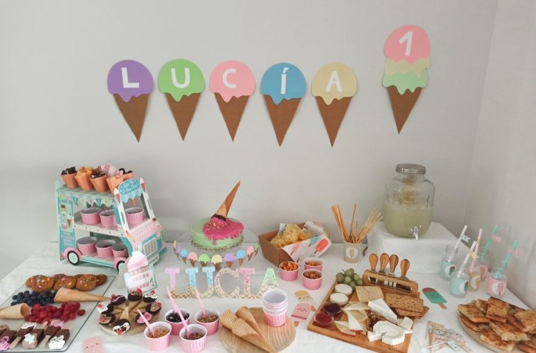 decoración fiesta de helados