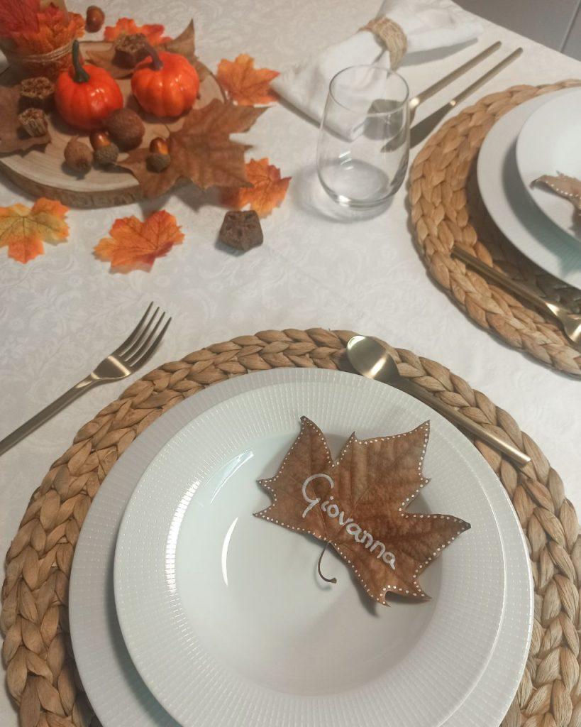 decoración hojas secas
