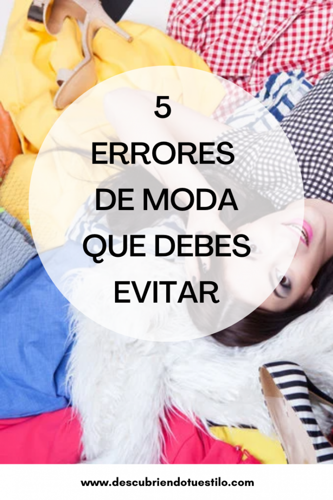 errores de moda que debes evitar